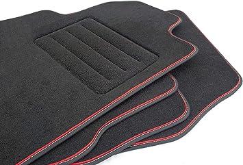 Velour Fußmatten Satz Für Ford Mondeo Mk4 2008 2015 Premium Qualität 4 Teilig Passgenau Oval Clips Auto