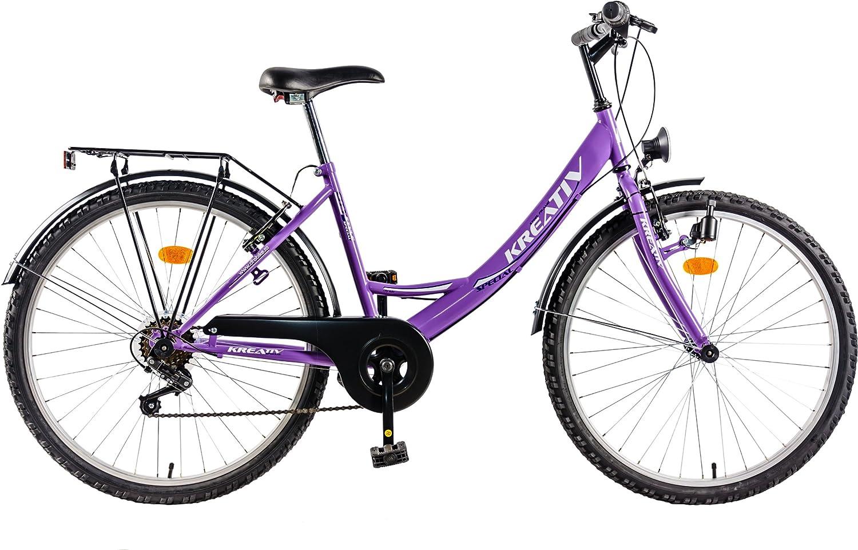 DHS Cityline 2614-Bicicleta de ciudad para mujer: Amazon.es ...