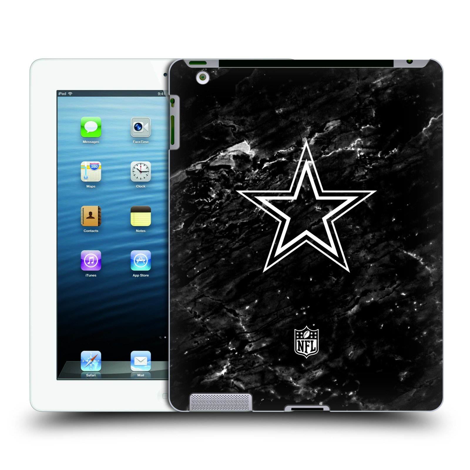 Official NFL Marble 2017/18 Dallas Cowboys Logo Hard Back Case for iPad 3 / iPad 4