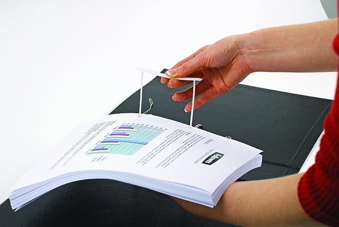 Bankers Box CRC 00897 - Fasteners de plástico Pro clip, 100 mm, blanco: Amazon.es: Oficina y papelería
