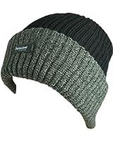 Stylish Mens Two Tone Thinsulate Insulation 40gram Rib Knit Beanie Hat