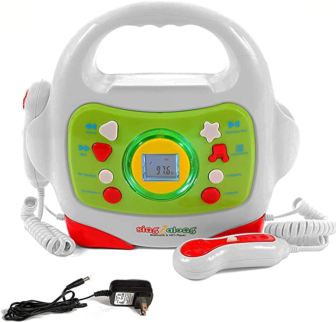 IQ Toys MP3 Player and Karaoke Machine with 2 Microphones Music Player for Kids