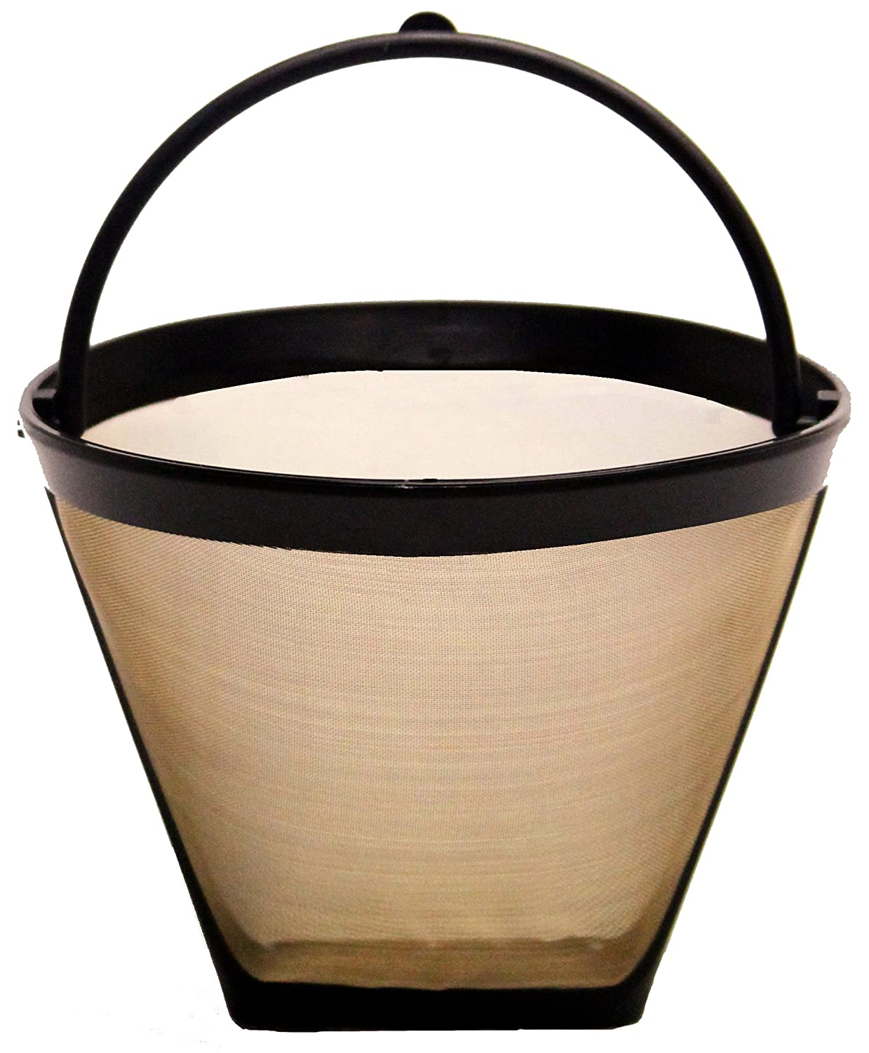 THE ORIGINAL GOLDTONE BRAND Reusable Cone-style #2 4-8 Cup Coffee Filter with Handle