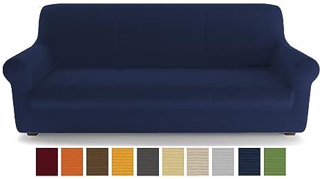 PETTI Artigiani Italiani Azul, 2 Plazas, Funda de Sofa Elastica, 100% Made in Italy, Tela Lineal, (110 a 150 cm)