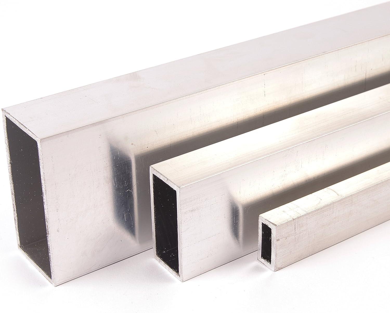 Aluminium Rechteckrohr Aluprofil Hohlrohr Kantrohr alu profil   Länge 200cm