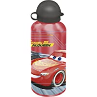 Kids Euroswan Botella Cantimplora 500 ML, Estampado Cars 3, Aluminio, 15x10x5 cm