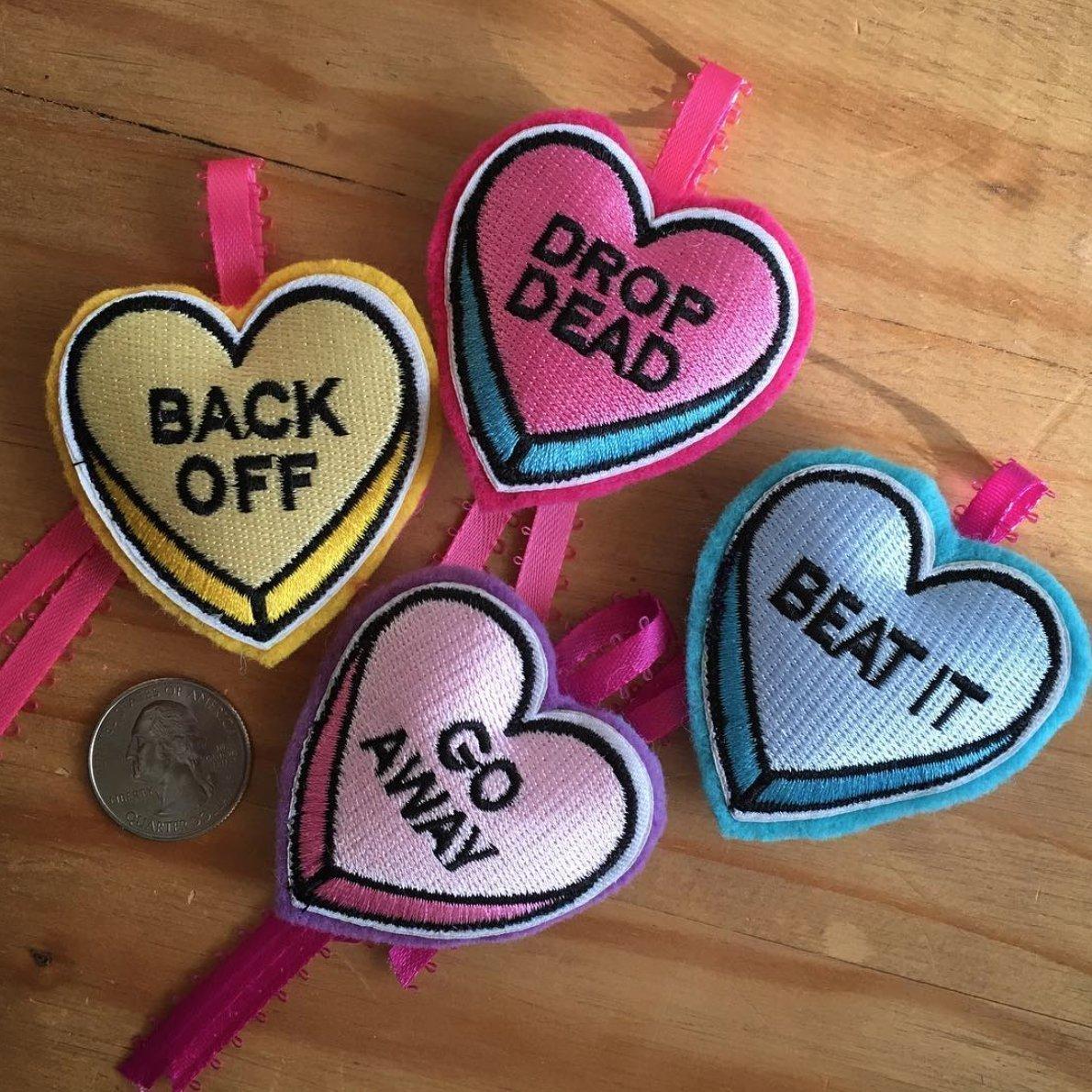 Love Bites Catnip Hearts - Set of 4 Different Handmade Cat Toys