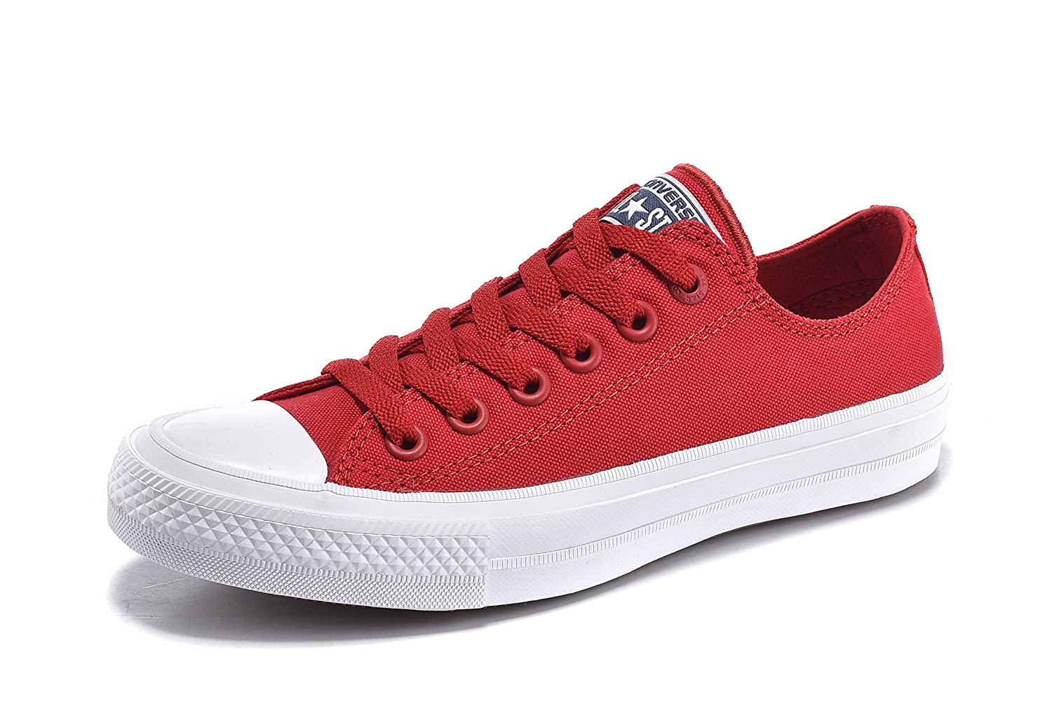 Converse Unisex Low Top Chuck Taylor All Star II Canvas Shoes B01HAF2JH4 9.5 US W/7.5 US M/EUR 41|Salsa Red