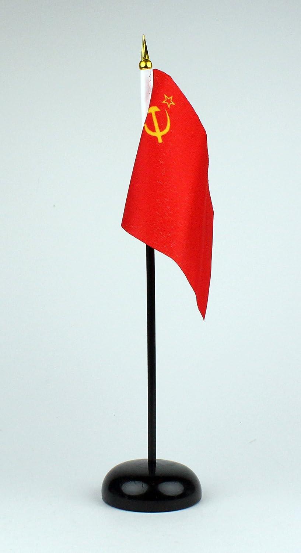 mit Tischflaggenst/änder aus Polyester schwarz S Buddel-Bini Tischflagge Sowjetunion UDSSR 15x10 cm extrem standfest CCCP