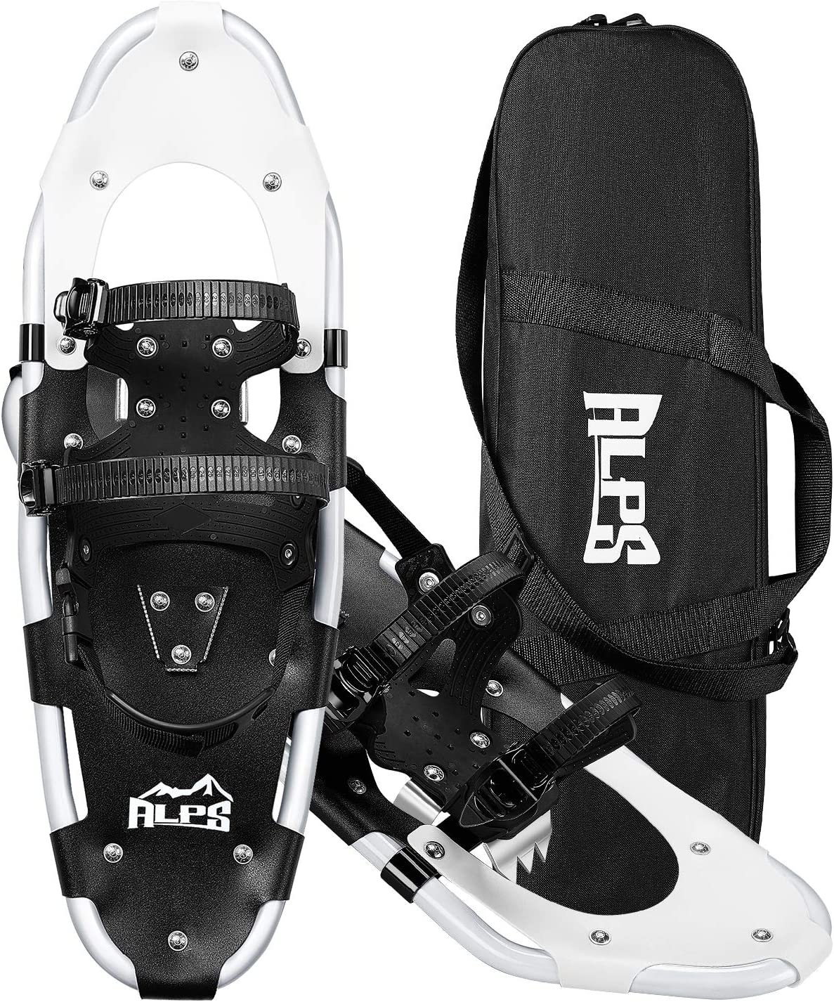 ALPS 21/25/27/30 Inches Aluminum Alloy Snowshoes for Adults Women Men with Quick Fit Bindings and Carry Bag