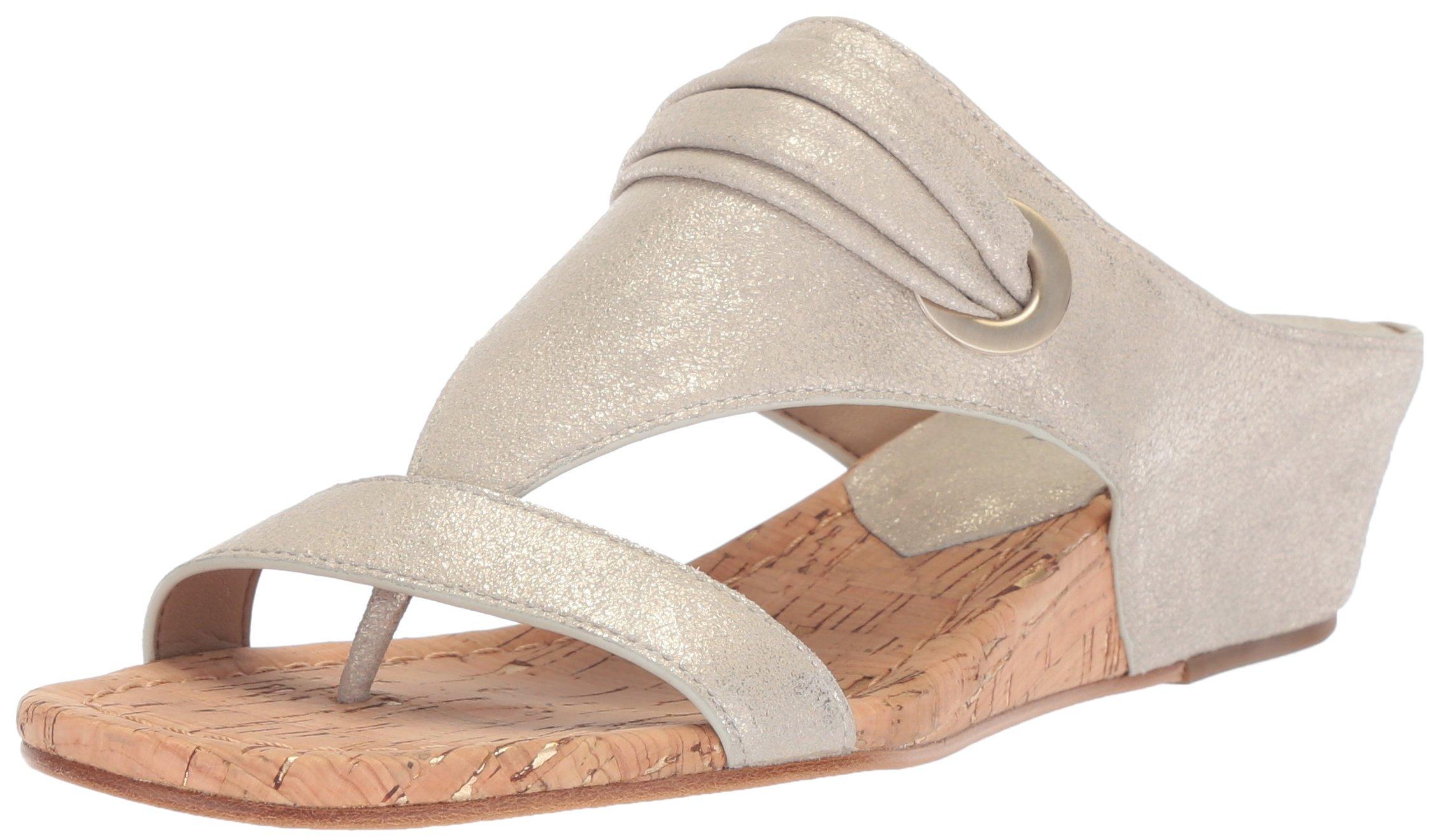 Donald J Pliner Women's Dionne Wedge Sandal, Platino, 10 Medium US