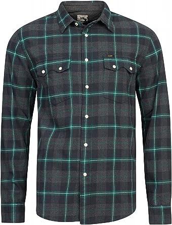 Lee RIDER SHIRT, Camisa Hombre, Verde (BOTTLE GREEN), Tamaño ...