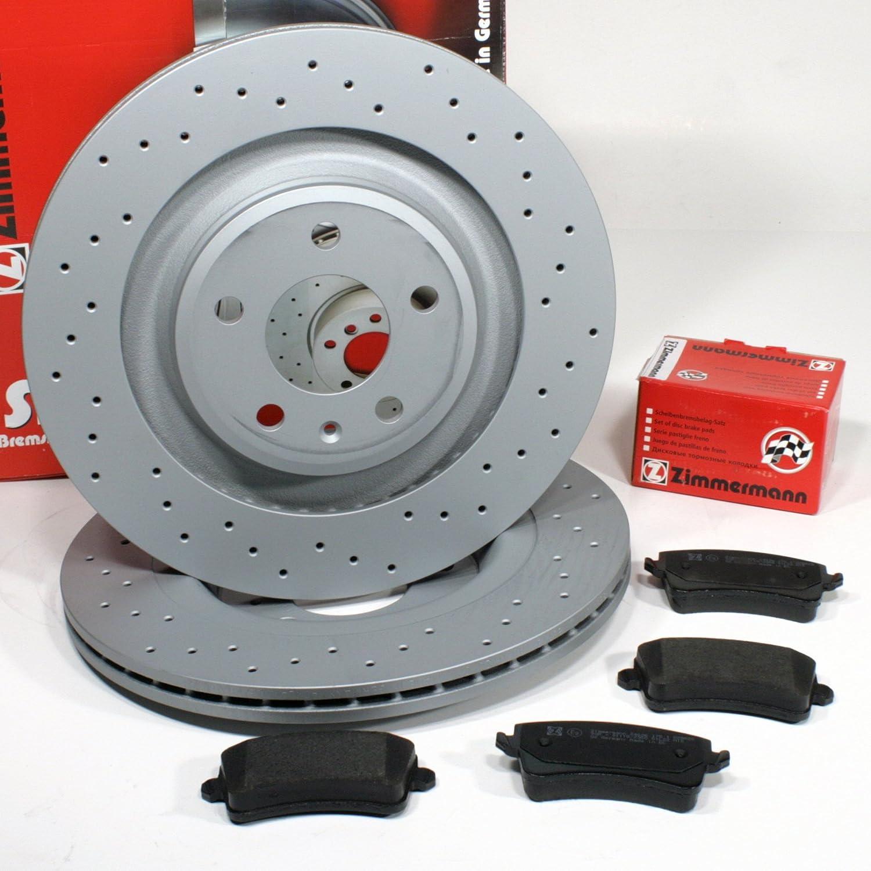 Bremsbel/äge f/ür hinten//die Hinterachse Zimmermann Bremsscheiben PR-Nr 1KD Coat Z//Bremsen