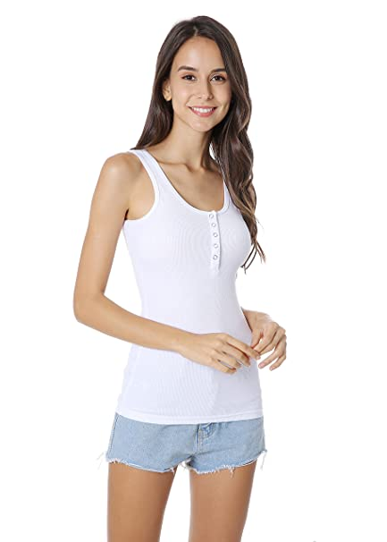 c24a094d5b29 Women Sexy Casual Tank Tops Yoga Breathable Sleeveless Button Camisoles  Shirt Suit for Fit Sport Slim