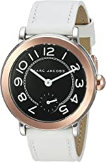 Marc Jacobs Women's Riley White Leather Watch - MJ1515