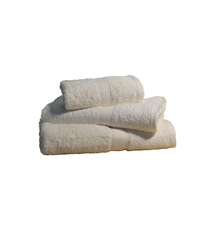 Majestic Linens percal de algodón egipcio 6 piezas Juego de toallas Hotel Qulaity crema: Amazon.es: Hogar