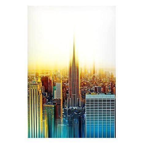 Bilderwelten magnético Junta - Manhattan abstracto - formato ...