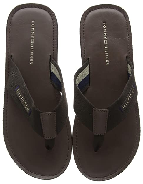 Herren Elevated Leather Beach Sandal Zehentrenner Schwarz