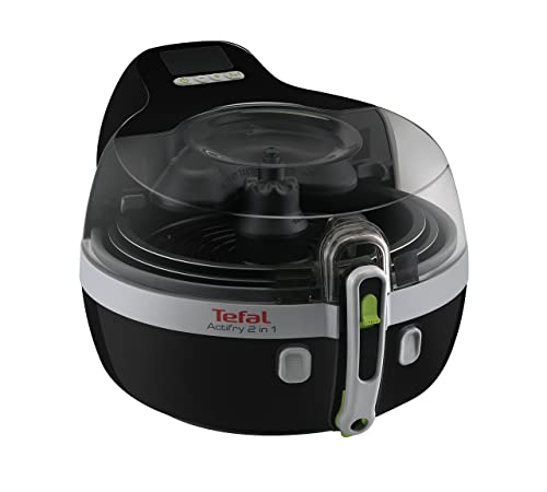 Tefal YV960140 ActiFry 2-in-1 Air Fryer, 1.5 kg Capacity, 2 Cooking Zones, Black