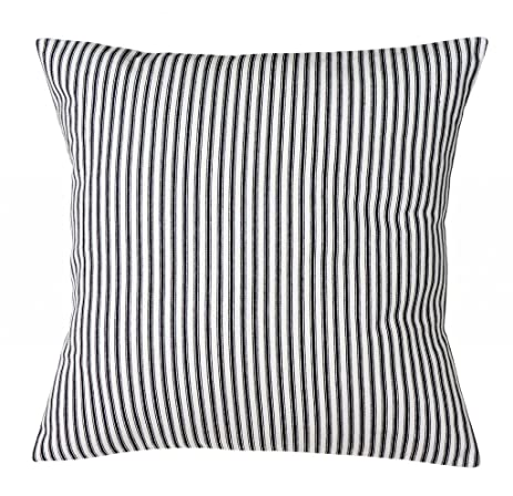 Pillow Covers Pillow Shams Black And White Beach Pillows Decorative Throw  Pillows 18u0026quot; Striped