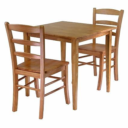 Wondrous Winsome Wood Groveland 3 Piece Wood Dining Set Light Oak Finish Interior Design Ideas Philsoteloinfo