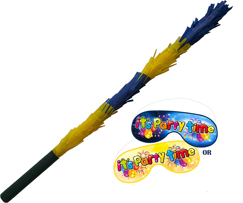 Boogie Woogie Pinatas Pinata Stick Dark and Light Blue