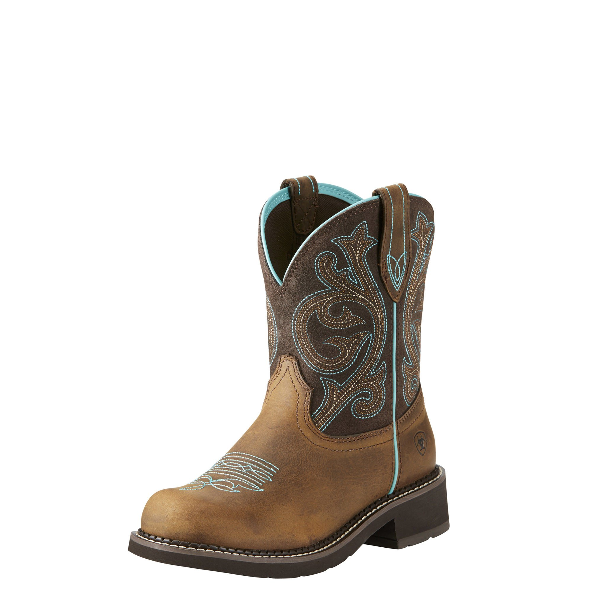 ARIAT WOMEN Fatbaby Collection Western Cowboy Boot, Distressed Brown/Fudge, 10 B US