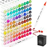Taotree 101 Colors Alcohol Based Markers, Dual Tips Permanent Art Markers Highlighter Pen Sketch Markers for Kids Adult Color