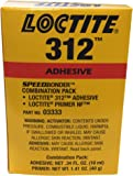 Loctite 228191 Amber Loctite Speedbonder 312 Amber One-Part Acrylic Adhesive, 10 mL Kit