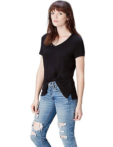 FIND T-Shirt con Scollo a V Donna
