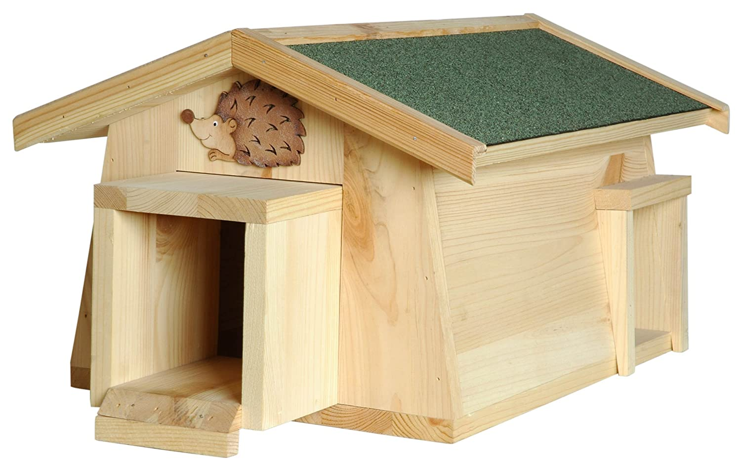 Luxus-Insektenhotels Mecki 22216e Hedgehog House with 2 Entrances Predection from Cats
