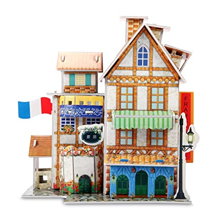 3D Puzzle Jigsaw Educational Toys DIY For Kids Hotel 32 Piece