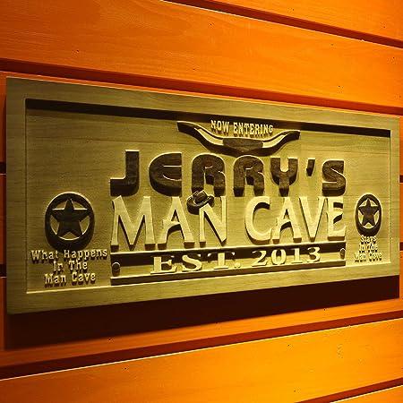 wpa0214 nombre personalizado hombre cueva con est. Año ...