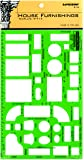 Rapidesign House Furnishings Template, 1/4 Inch = 1 Foot Scale, 1 Each (R714)