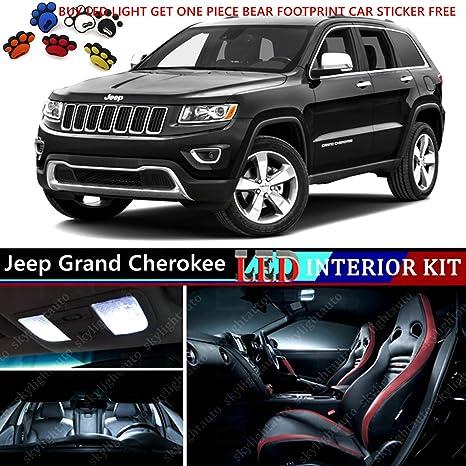 16pcs LED Premium Xenon Luz Blanca Interior del paquete para Jeep Grand Cherokee 2011 – 2016