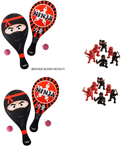 Amazon.com: 1 DZ (12) Awesome Ninja Paddleball Games & 1 DZ ...
