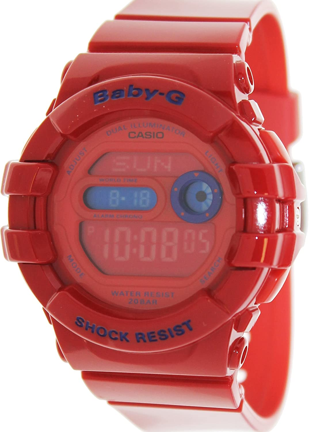 Casio Womens Baby G Bgd140 4 Red Resin Quartz Watch Babyg Bg 169r 4bdr With Digital Dial Watches