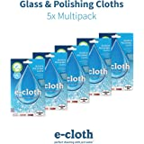 E-cloth Glass & Polishing Cloth-5 Pack, Multi, 40x50cm