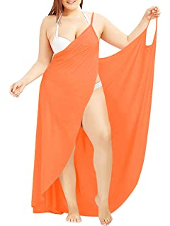 7face12098d5 Plus Size Sexy Women Spaghetti Strap Cover Up Beach Backless Wrap Long Dress