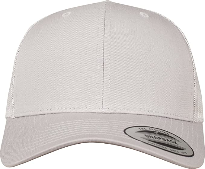 4d6297a656f0d Image Unavailable. Image not available for. Color  Flexfit Yupoong Classics Retro  Trucker Silver Snapback Cap ...