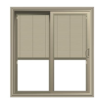 Amazon Sliding Patio Door With Blinds Between Glass In Tan 58