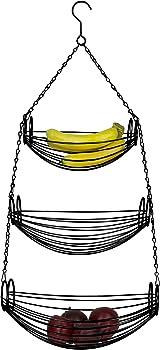 Home Basics 3-Tier Fruit or Vegetable Kitchen Storage Baskets