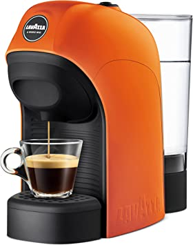 Lavazza LM800 Tiny Independiente Máquina de café en cápsulas 0,75 L Semi-automática - Cafetera (Independiente, Máquina de café en cápsulas, 0,75 L, Cápsula de café, 1450 W, Negro, Naranja): Amazon.es: Hogar