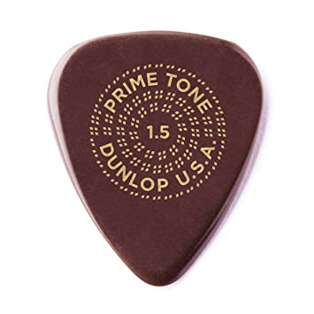Dunlop Guitar Picks  12 Pack  Primetone Standard Smooth Hand Sculpted  1.5mm