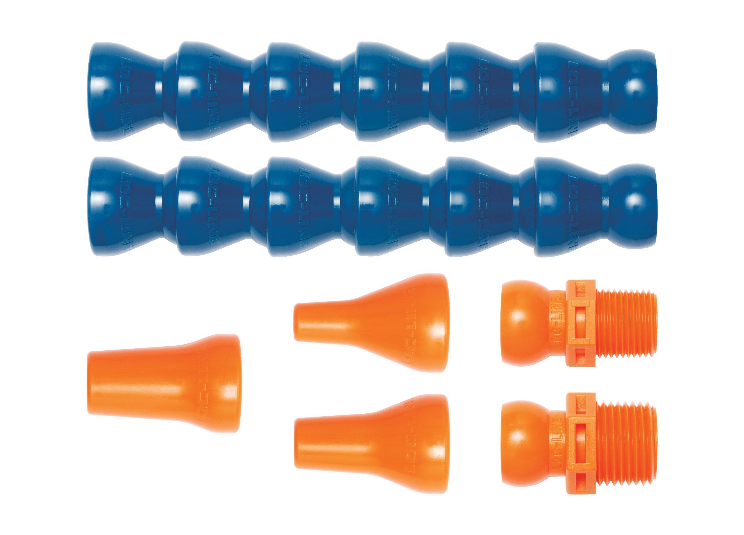 Loc-Line Coolant Hose Assembly Kit, Acetal Copolymer, 7 Piece, 1/4'' Coolant Hose ID