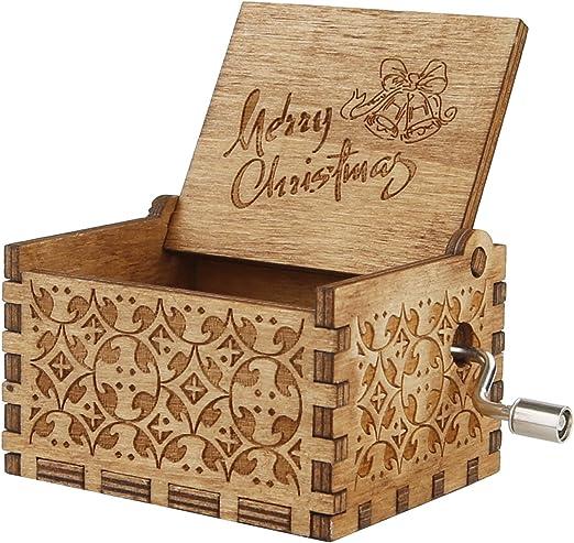 Yiushing Grabado de madera caja de música personalizable Hedwig de ...