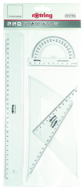 Set of 2 Rotring Centro Set Square 32cm /& 37cm