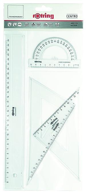 13 opinioni per Rotring Centro geometria Rule/goniometro/Set Quadrato Set per geometria- 4 pezzi