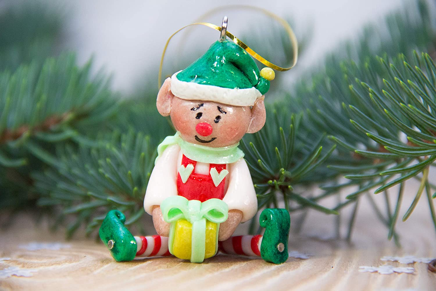 christmas ornaments with polymer clay