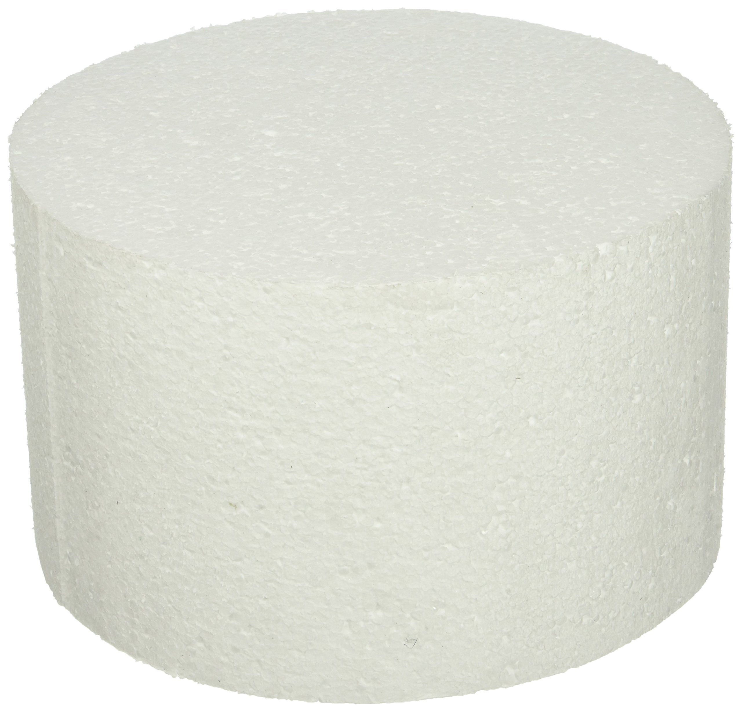 Oasis Supply 747088 Dummy Round Cake, 8'' x 5'', White